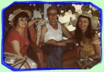 Betty & Dorothy with Uncle Bob during Summerland holiday